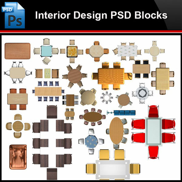 ★Photoshop PSD Blocks-Interior Design PSD Blocks-Desk & Chair PSD Blocks V6 - Architecture Autocad Blocks,CAD Details,CAD Drawings,3D Models,PSD,Vector,Sketchup Download