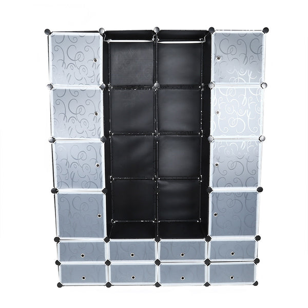 Multi-use 24 Cube Clothes Closet Modular Wardrobe