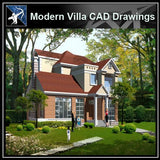 ★Modern Villa CAD Plan,Elevation Drawings Download V.27 - Architecture Autocad Blocks,CAD Details,CAD Drawings,3D Models,PSD,Vector,Sketchup Download