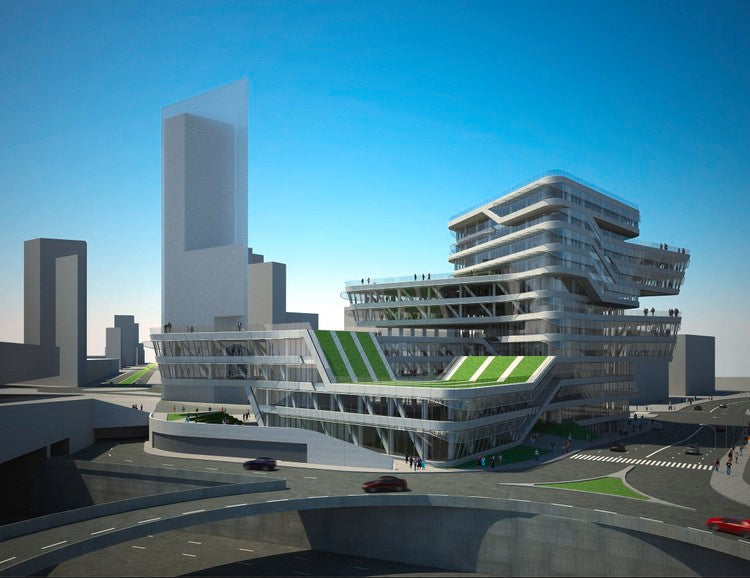 【Famous Architecture Project】Spiral tower, barcelona, by zaha hadid, CAD Drawing-Architectural 3D CAD model