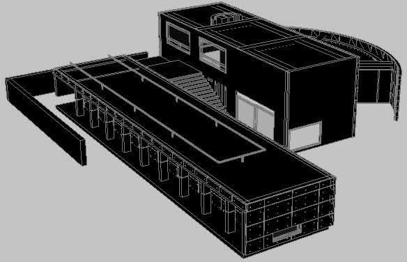 【Famous Architecture Project】Koshino house CAD 3D Drawing, ashiya, japan, by tadao ando, 1981-Architectural 3D CAD model