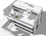 【World Famous Architecture CAD Drawings】Villa stein - le corbusier sketchup 3D