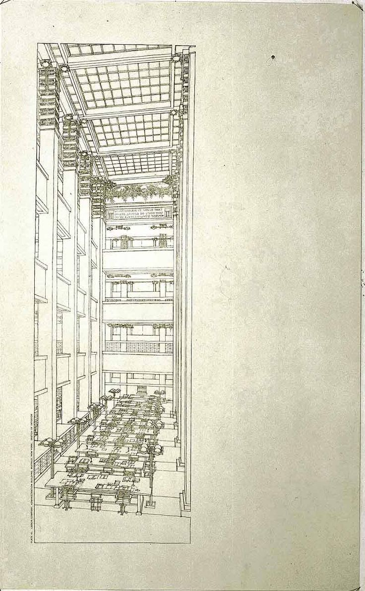 【Famous Architecture Project】Larking BuiIding-Frank Lloyd Wright-Architectural CAD Drawings