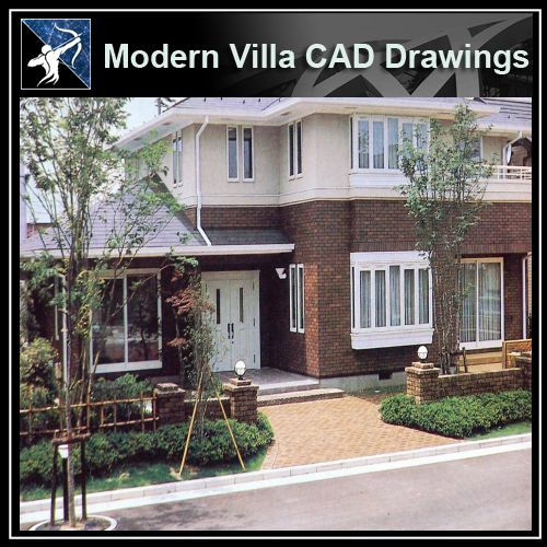 ★Modern Villa CAD Plan,Elevation Drawings Download V.28 - Architecture Autocad Blocks,CAD Details,CAD Drawings,3D Models,PSD,Vector,Sketchup Download
