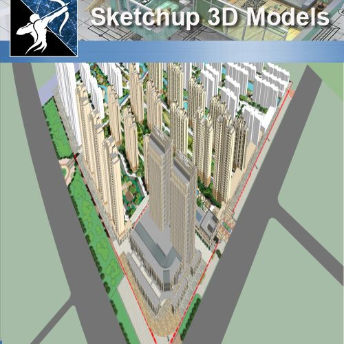 ★★Sketchup 3D Models--Big Scale Business Architecture Sketchup Models 06 - Architecture Autocad Blocks,CAD Details,CAD Drawings,3D Models,PSD,Vector,Sketchup Download