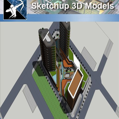 ★★Sketchup 3D Models--Big Scale Business Architecture Sketchup Models 12 - Architecture Autocad Blocks,CAD Details,CAD Drawings,3D Models,PSD,Vector,Sketchup Download