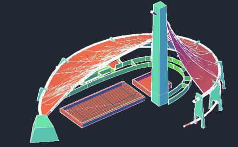 【World Famous Architecture CAD Drawings】Kenzo tange national  gymnasium CAD 3d model