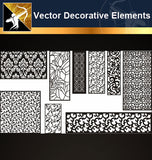 ★Vector Decoration Design Elements V.19-Download Illustration AI Vector Files - Architecture Autocad Blocks,CAD Details,CAD Drawings,3D Models,PSD,Vector,Sketchup Download
