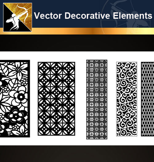 ★Vector Decoration Design Elements V.20-Download Illustration AI Vector Files - Architecture Autocad Blocks,CAD Details,CAD Drawings,3D Models,PSD,Vector,Sketchup Download