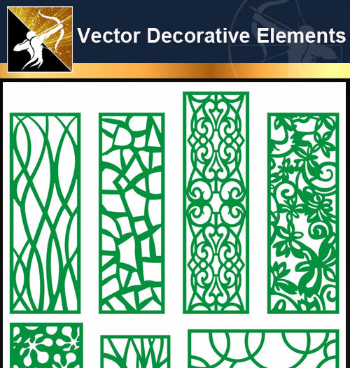 ★Vector Decoration Design Elements V.21-Download Illustration AI Vector Files - Architecture Autocad Blocks,CAD Details,CAD Drawings,3D Models,PSD,Vector,Sketchup Download