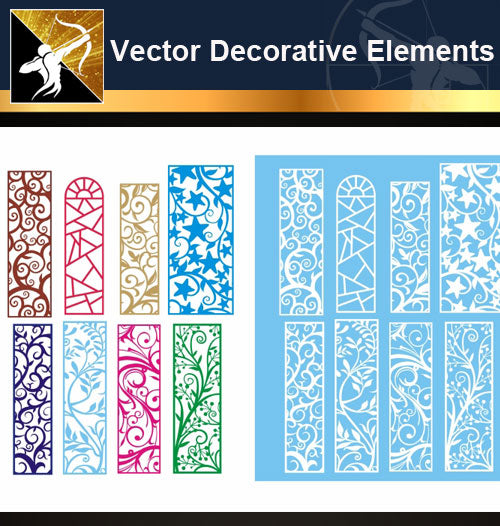 ★Vector Decoration Design Elements V.22-Download Illustration AI Vector Files - Architecture Autocad Blocks,CAD Details,CAD Drawings,3D Models,PSD,Vector,Sketchup Download
