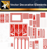 ★Vector Decoration Design Elements V.24-Download Illustration AI Vector Files