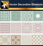 ★Vector Decoration Design Elements V.25-Download Illustration AI Vector Files - Architecture Autocad Blocks,CAD Details,CAD Drawings,3D Models,PSD,Vector,Sketchup Download
