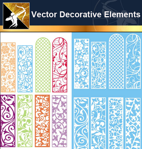 ★Vector Decoration Design Elements V.26-Download Illustration AI Vector Files - Architecture Autocad Blocks,CAD Details,CAD Drawings,3D Models,PSD,Vector,Sketchup Download