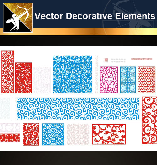 ★Vector Decoration Design Elements V.28-Download Illustration AI Vector Files - Architecture Autocad Blocks,CAD Details,CAD Drawings,3D Models,PSD,Vector,Sketchup Download