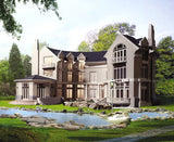 ★【Villa CAD Design,Details Project V.4-England Manor Style】Chateau,Manor,Mansion,Villa@Autocad Blocks,Drawings,CAD Details,Elevation - Architecture Autocad Blocks,CAD Details,CAD Drawings,3D Models,PSD,Vector,Sketchup Download
