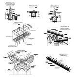 【CAD Details】Mud and woods joint and constructions CAD detail drawing