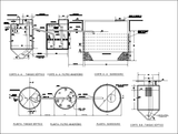 【CAD Details】Sanitary blocks filter sink design drawing