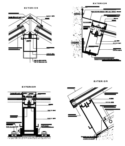 Cad Detailssteel Roof Section Cad Details