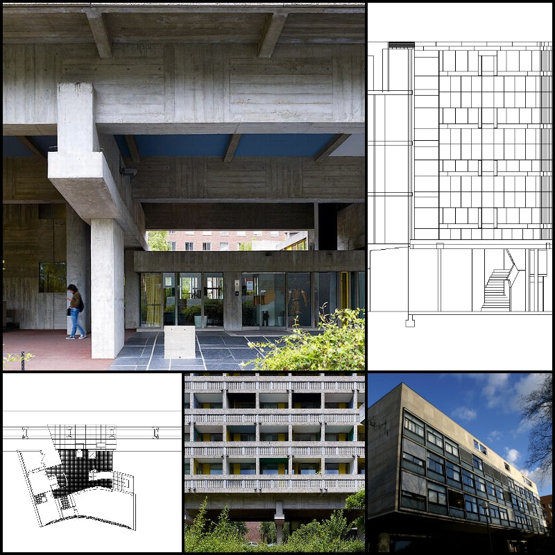 【Famous Architecture Project】Swiss Pavilion-Le Corbusier-CAD Drawings