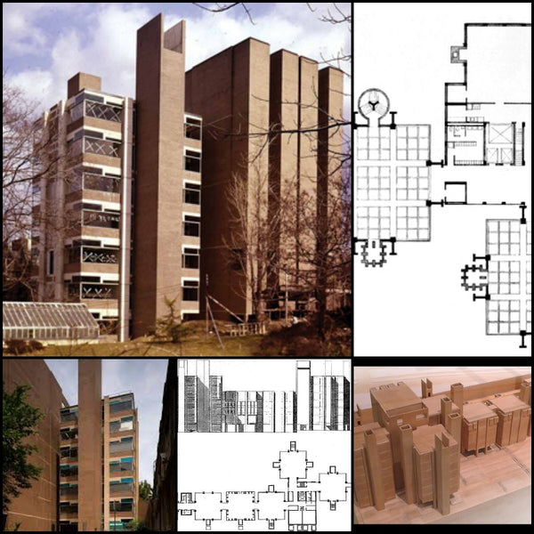 【World Famous Architecture CAD Drawings】Richards Medical Research Laboratories-Louis I. Kahn