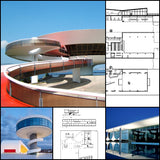 【Famous Architecture Project】Oscar Niemeyer-Architectural works - Architecture Autocad Blocks,CAD Details,CAD Drawings,3D Models,PSD,Vector,Sketchup Download