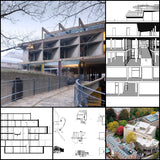 【Famous Architecture Project】Carpenter center of visual arts-Le Corbusier-Architectural CAD Drawings - Architecture Autocad Blocks,CAD Details,CAD Drawings,3D Models,PSD,Vector,Sketchup Download