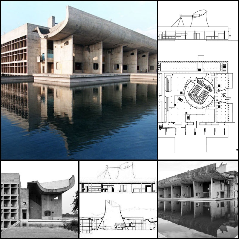 【Famous Architecture Project】Palace of Assemble-Le Corbusier-Architectural CAD Drawings