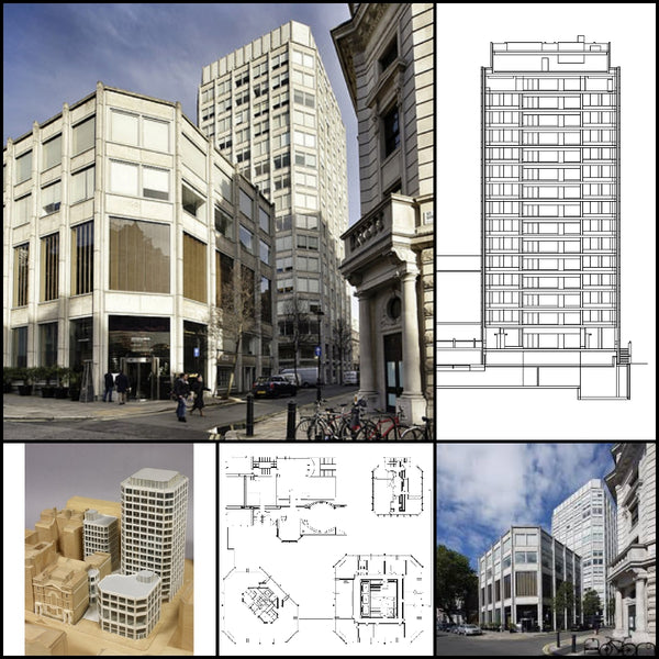 【World Famous Architecture CAD Drawings】The Economist Building-Alison and Peter Smithson