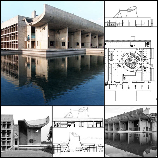 【World Famous Architecture CAD Drawings】Palace of Assemble-Le Corbusier - Architecture Autocad Blocks,CAD Details,CAD Drawings,3D Models,PSD,Vector,Sketchup Download