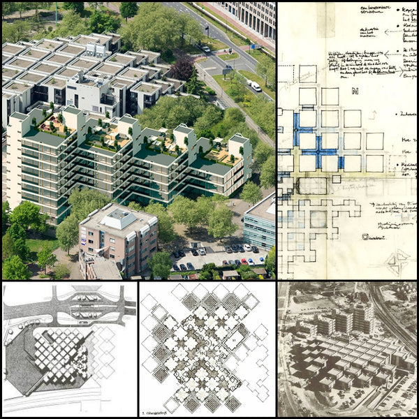 【World Famous Architecture CAD Drawings】Centraal Beheer Office Buildings Apeldoorn-Herman Hertzberger