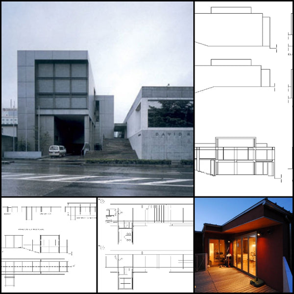 【World Famous Architecture CAD Drawings】Casa matsumoto planos - Tadao Ando - Architecture Autocad Blocks,CAD Details,CAD Drawings,3D Models,PSD,Vector,Sketchup Download