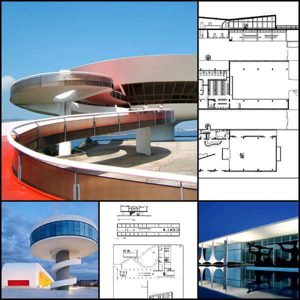 【World Famous Architecture CAD Drawings】 Oscar Niemeyer-Architectural Works - Architecture Autocad Blocks,CAD Details,CAD Drawings,3D Models,PSD,Vector,Sketchup Download