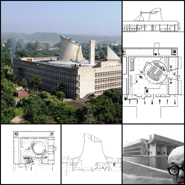 【World Famous Architecture CAD Drawings】Le Corbusier-Palace of Assembly - Architecture Autocad Blocks,CAD Details,CAD Drawings,3D Models,PSD,Vector,Sketchup Download