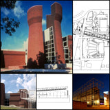 【World Famous Architecture CAD Drawings】Wexner Center for the Arts-Peter Eisenman