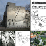 【World Famous Architecture CAD Drawings】 Jüdisches Museum (Jewish Museum Berlin) |  Daniel Libeskind - Architecture Autocad Blocks,CAD Details,CAD Drawings,3D Models,PSD,Vector,Sketchup Download