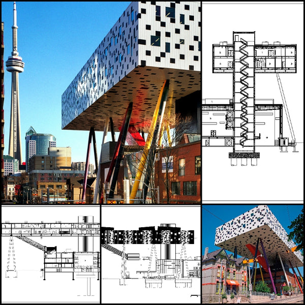 【World Famous Architecture CAD Drawings】 Ontario College of Art and Design University - Architecture Autocad Blocks,CAD Details,CAD Drawings,3D Models,PSD,Vector,Sketchup Download