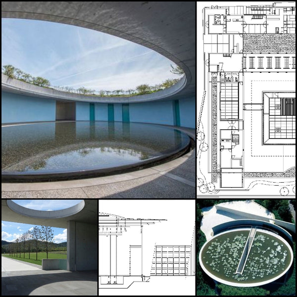 【World Famous Architecture CAD Drawings】Templo Budista- Tadao Ando