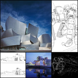 【World Famous Architecture CAD Drawings】Guggenheim Museum Bilbao - Architecture Autocad Blocks,CAD Details,CAD Drawings,3D Models,PSD,Vector,Sketchup Download