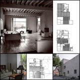 【World Famous Architecture CAD Drawings】Luis Barragan House and Studio-Luis Barragan - Architecture Autocad Blocks,CAD Details,CAD Drawings,3D Models,PSD,Vector,Sketchup Download
