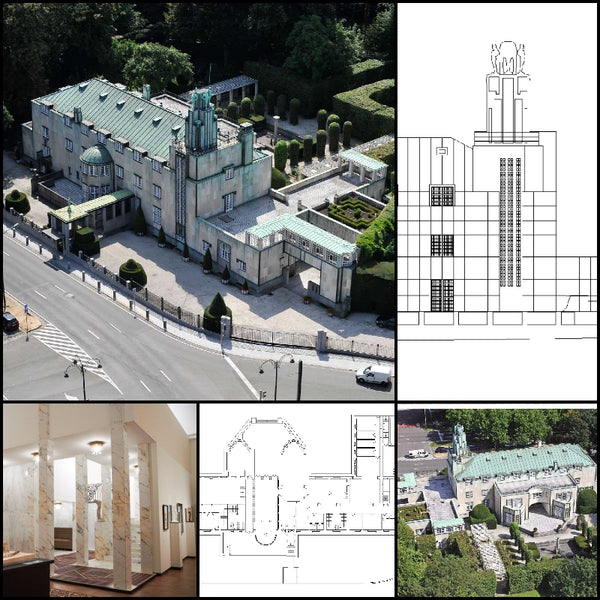 【World Famous Architecture CAD Drawings】Stoclet Palace-Josef Hoffmann - Architecture Autocad Blocks,CAD Details,CAD Drawings,3D Models,PSD,Vector,Sketchup Download