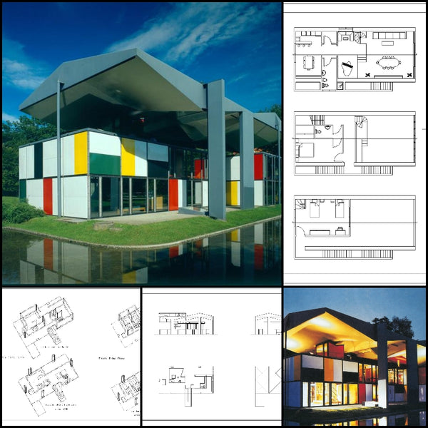 【World Famous Architecture CAD Drawings】 Arquitectura - Le Corbusier Maison D'homme - Architecture Autocad Blocks,CAD Details,CAD Drawings,3D Models,PSD,Vector,Sketchup Download