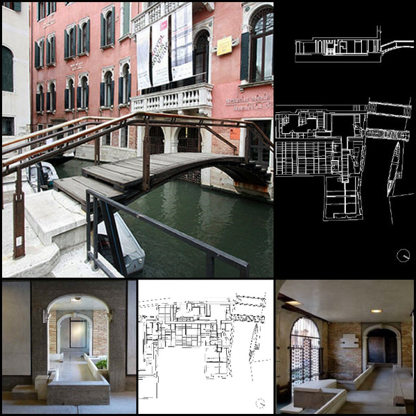 【World Famous Architecture CAD Drawings】Querini Stampalia Foundation-Carlo Scarpa - Architecture Autocad Blocks,CAD Details,CAD Drawings,3D Models,PSD,Vector,Sketchup Download