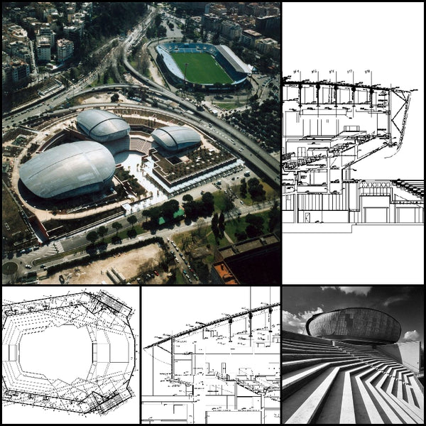 【World Famous Architecture CAD Drawings】Auditorium Parco della Musica-Renzo Piano