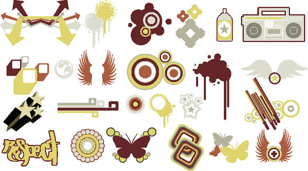 ★Free Vector Design Elements V.6-Free Download Illustration AI Vector