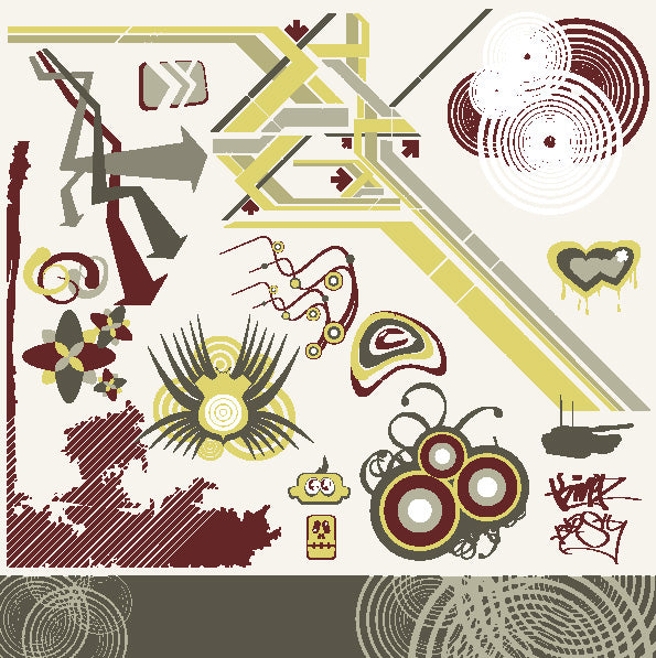 ★Free Vector Design Elements V.19-Free Download Illustration AI Vector