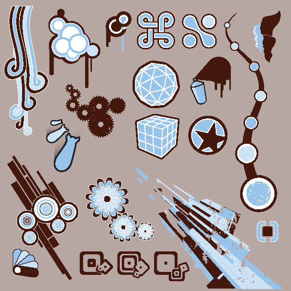 ★Free Vector Design Elements V.21-Free Download Illustration AI Vector