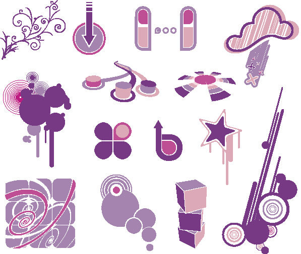 ★Free Vector Design Elements V.22-Free Download Illustration AI Vector