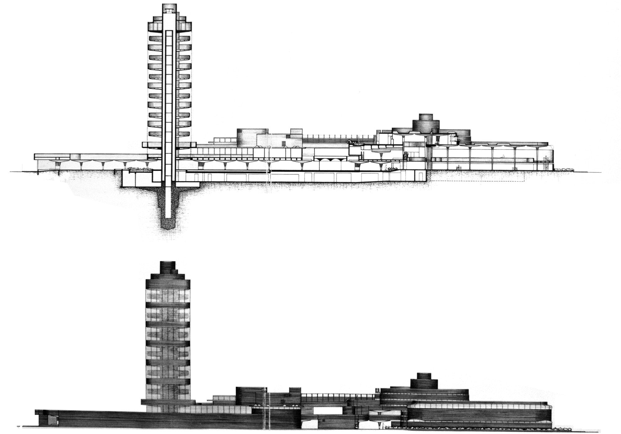 【Famous Architecture Project】SC Johnson Administration Building and Research Tower-Frank Lloyd Wright-Architectural CAD Drawings