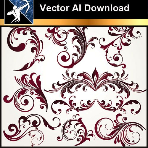 ★Vector Download AI-Floral Design Elements Vector V.1